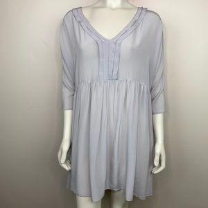 Topshop Silk Tunic Blouse